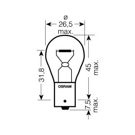 Malé žárovky  1-os2821 OS2821 OSRAM 12V W3W (W2,1x9,5d) 3W standard (10ks)