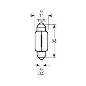 OS6423 OSRAM 24V C5W (SV8,5-8) 5W standard (10ks) Malé žárovky 24V