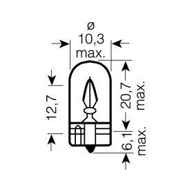 OS2821 OSRAM 12V W3W (W2,1x9,5d) 3W standard (10ks) Malé žárovky 12V