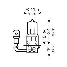 OS64156 OSRAM 24V H3 70W standard (1ks) Halogenové žárovky 24V