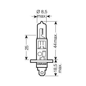 Malé žárovky  1-os2351mfx6 OS2351MFX6 OSRAM 12V BX8,4d 1,2W standard (10ks)