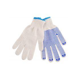 """EXTOL-CRAFT EX99708 Rukavice bavlněné s PVC terčíky na dlani, velikost 10"""" Pracovní rukavice"""