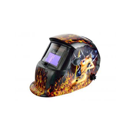 GEKO G01877 Svářecí kukla samostmívací s plameny Brýle, kukly a štíty