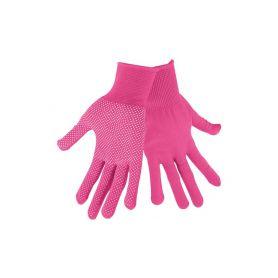 """EXTOL-LADY EX99719 Rukavice z polyesteru s PVC terčíky na dlani, velikost 7"""" Pracovní rukavice"""