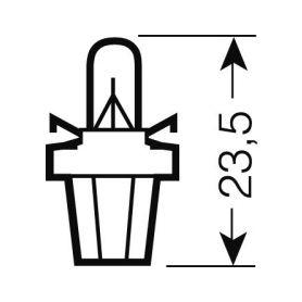 OS2722MF OSRAM 12V B8,5d 2W standard (10ks) Malé žárovky 12V