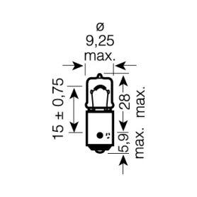 Malé žárovky  1-os2722mfx x OSRAM 12V BX8,5d 2W standard (10ks) OS2722MFX