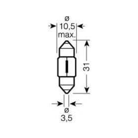 OS6438 OSRAM 12V SV8,5-8 10W standard (10ks) Malé žárovky 12V