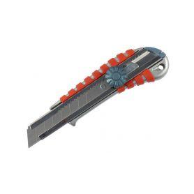 EXTOL-PREMIUM EX8855014 Nůž ulamovací kovový s kovovou výztuhou a kolečkem, 18mm Pracovní nože