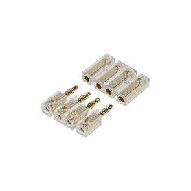 33113 4-pólový zlacený konektor pro připojení repro na zadním platu GOLD instalační materiál