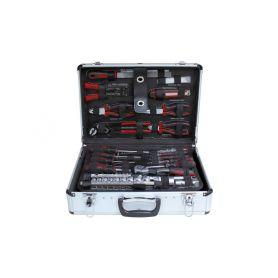 SIXTOL Profesionální hliníkový kufr s nářadím z chrom-vanadiové oceli 168 dílů ZUR SIXTOL