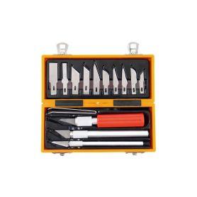 EXTOL-CRAFT EX91350 Nože na vyřezávání, sada 14ks, v krabičce z ABS pl. Pracovní nože