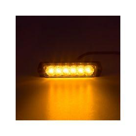 SLIM výstražné LED světlo vnější, oranžové, 12-24V, ECE R65 - 1