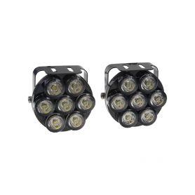 SJ-292ENA LED světla pro denní svícení, kulatá 75mm, ECE Denní svícení UNI