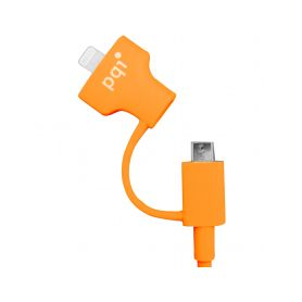 PQI i-Cable Du-Plug 90 Orange Kabely a redukce