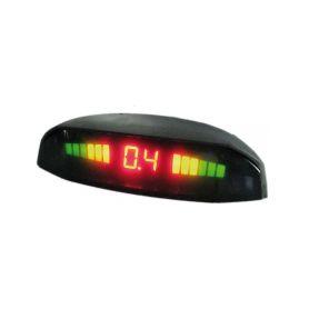 PS4WTRUCK Parkovací systém bezdrátový 4 senzorový 12-24 LED displej S displejem