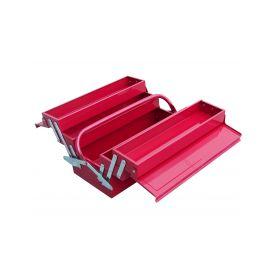 EXTOL-CRAFT EX81843 Kufr na nářadí kovový, 400x200x195mm, 5 přihrádek Kufry a pořadače nářadí