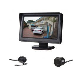 """SE665 Parkovací systém se 4-mi čidly a kamerou + LCD 4,3"""" Parkovací sady"""