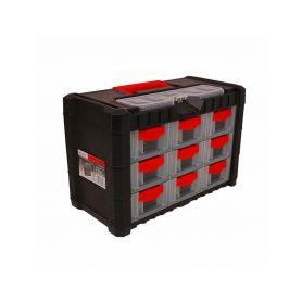 PROSPERPLAST Plastový organizér na nářadí závěsný MULTICASECARGO 400x200x260, 9 zásuvek PROSPERPLAST