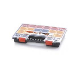 PROSPERPLAST Plastový organizér 22 barevných přihrádek NORP 344x249x50 PROSPERPLAST