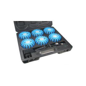 WL-H02SET6BLU LED výstražné světlo 16LED, modré, set 6ks Výstražná světla