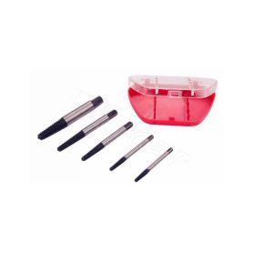 QUATROS QS14226 Vytahováky poškozených šroubů 3-18 mm, hobby využití, sada 5 kusů Závitníky