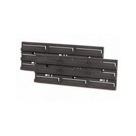 PROSPERPLAST Montážní panel HANGING BAR 386x130x18 černý, 2 ks PROSPERPLAST