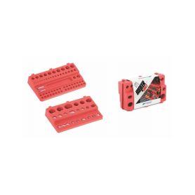 PROSPERPLAST Sada držáků na nářadí BINEER SHELFS 190x111mm, červená, 2 ks PROSPERPLAST
