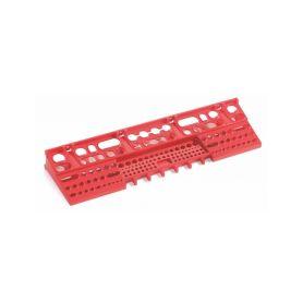 PROSPERPLAST Držák na nářadí BINEER SHELFS 580x158mm, červený PROSPERPLAST