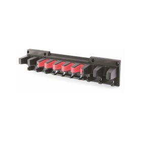 PROSPERPLAST IWN2-S411 Závěsný držák MULTI HOLDER 597x128x118 na lopatu, hrábě, motyku - černý Kufry a pořadače nářadí