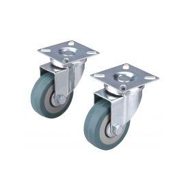 EXTOL-PREMIUM EX8856023 Kolečka otočná s obručí ze šedé pryže, sada 2ks, průměr 50mm Dílenský nábytek