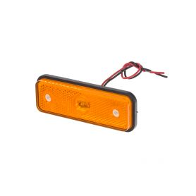 Boční obrysové LED světlo, 12-24V, oranžové, obdélník, ECE R91