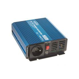 35PSW412 Sinusový měnič napětí z 12/230V + USB, 400W Sinusové měniče
