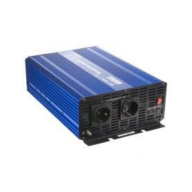 35PSW1524 Sinusový měnič napětí z 24/230V + USB, 1500W Sinusové měniče