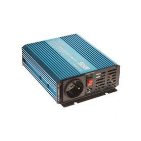 35PSW424 Sinusový měnič napětí z 24/230V + USB, 400W Sinusové měniče