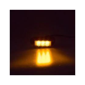 KF003 PREDATOR 3x1W LED, 12-24V, oranžový, ECE R65 Vnější s ECE R65