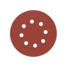 TOYA TO-08574 Brusný papír 125 mm P40 s otvory 5 ks suchý zip Brusivo