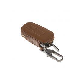 483BW102BW x Kožený obal se zipem hnědý pro klíč BMW, 3-tlačítkový (48BW102) Kožené obaly