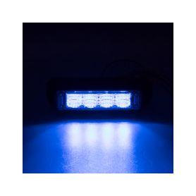 911-C4BLU PROFI výstražné LED světlo vnější, modré, 12-24V, ECE R65 Vnější s ECE R65