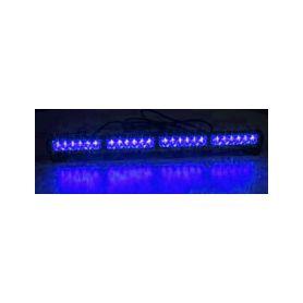 KF755-4BLU LED světelná alej, 24x 1W LED, modrá 645mm, ECE R10 Vnitřní