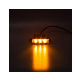 KF003HD MINI PREDATOR 3x1W LED, 12-24V, oranžový, ECE R10 Do mřížek chladiče