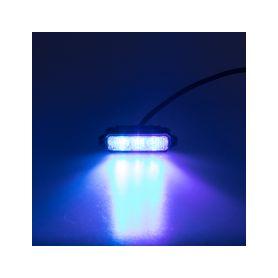 KF003HDBLUE MINI PREDATOR 3x1W LED, 12-24V, modrý, ECE R10 Do mřížek chladiče