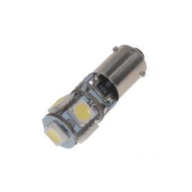 LED BAX9s bílá, 12V, 5LED/3SMD