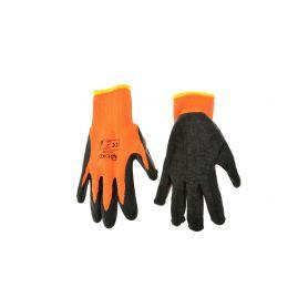 GEKO G73591 Pracovní zimní rukavice vel. 9 oranžové Pracovní rukavice