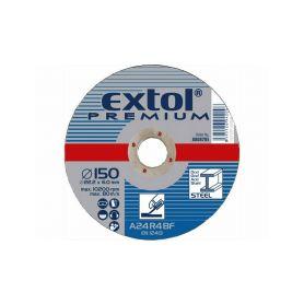 EXTOL PREMIUM Kotouč brusný na ocel, 150x6,0x22,2mm EXTOL-PREMIUM
