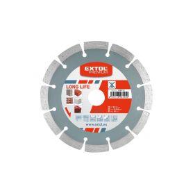 EXTOL PREMIUM Kotouč diamantový řezný segmentový Long Life, 230x22,2mm, suché řezání EXTOL-PREMIUM