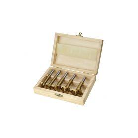 EXTOL CRAFT Frézy-sukovníky, do dřeva, 5ks, 15-20-25-30-35mm, stopka 8mm, titan. úprava EXTOL-CRAFT