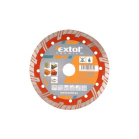 EXTOL-PREMIUM EX8803034 Kotouč diamantový řezný turbo plus, 180x22,2mm, suché i mokré řezání Diamantové řezné kotouče