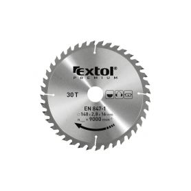 EXTOL-PREMIUM EX8803217 Kotouč pilový s SK plátky, 165x2,0x20mm, 24T, šířka SK plátků 2,8mm, SK Pilové kotouče