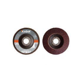 EXTOL-PREMIUM EX8803330 Kotouč lamelový šikmý korundový, P100, 125mm, KORUND Lamelové kotouče