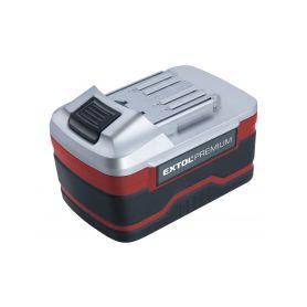 EXTOL-PREMIUM EX8891220B Baterie akumulátorová 18V, Li-ion, 3000mAh, pro 8891220, 8891110, a další Příslušenství k vrtačkám